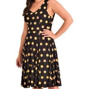 XL EVA ROSE Whimsy happy Emoji Fit & Flare dress